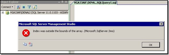 4. Error From SSMS 2005