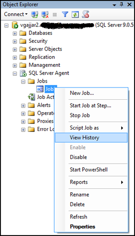 how to create sql agent job