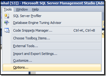 Sql Server Show Hide Results Pane In Management Studio 2012